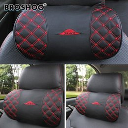 neck bone pillows NZ - Broshoo 1 Piece Auto Kord Red Wine Headrest Series Neck Seat Pillow Bone Pillows High Quality Gifts Car Styling Free Shipping