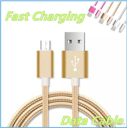 $enCountryForm.capitalKeyWord NZ - 2.1A Unbroken heavy duty Metal Braid Type Micro USB Data Cable Charger Lead 1M 2M 3M For IPhone 5 6 7 8 Samsung S5 S6 S7 S8 Charging MQ200