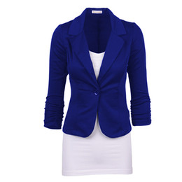 cc99dbf7984 Women s Jacket Spring and Autumn New Women s Solid Color Slim Single Button  Jacket Fashion Business Casual