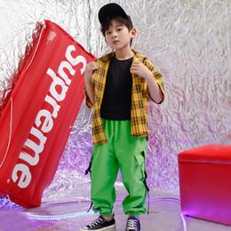 $enCountryForm.capitalKeyWord Australia - Kids Cool Hip Hop Clothing Outfits Girls Boys Jacket Crop Tank Tops Shirt Shorts Jazz Dance Costume Ballroom Dancing Streetwear