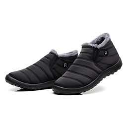 New Fashion Men Winter Shoes Solid Color Snow Boots Plush Father Antiskid Bottom Keep Warm Waterproof Ski Boots Size 35-48 To Have A Unique National Style Men's Shoes Men's Boots