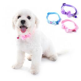 $enCountryForm.capitalKeyWord UK - New Breakaway Cat Dog Pet Collar Bell Dot Bow Butterfly Knot Cat Collar Adjustable Buckle Necklace Puppy Dog Collar Pet Supplies