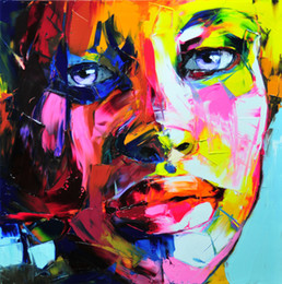 $enCountryForm.capitalKeyWord Australia - Hand painted Palette knife painting portrait Palette knife Francoise Nielly Face Abstract Oil painting Impasto figure on canvas Decor FN89