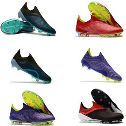 1ce797296aca5 2018 World Cup original Ankle Football Boots X 18+ FG Soccer Shoes X 18+  Speedmesh X18 Speed Mesh Outdoor Soccer Cleats 39-45