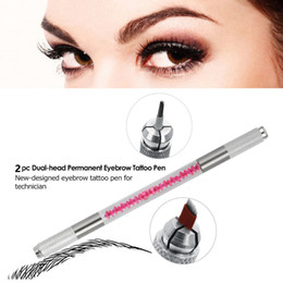 eyebrows microblading supplies Australia - Microblading Manual Pen Eyebrow Tattoo Double End Multi Used Tool Permanent Makeup Accessories Tattoo Microblade Supply