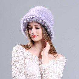 53a00586fab 2018 autumn winter Super warm snow show women genuine rex mink fur white  Russian style cap lady luxur fur hat hair lovely fur D19011503