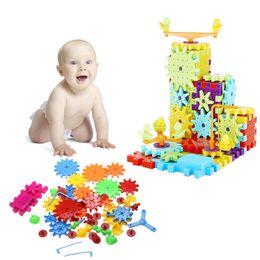 Kids Blocks Wholesale Australia - 81Pcs Building Blocks Children's Plastic ABS Snowflake Shape Kids Educational Toy Assemblage Colorful Model Building Kit