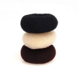 Bun shaper online shopping - 7cm cm Sponge Braider Ladies Girls Magic Shaper Donut Hair Bun Ring Maker Fashion Hair Accessories