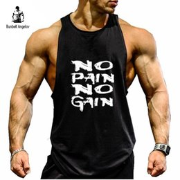 Wholesale Mens Tank Tops Bodybuilding Fitness Men Tank Tops Gyms Clothing Muscle Undershirt Workout Golds Fitness Men Vest New