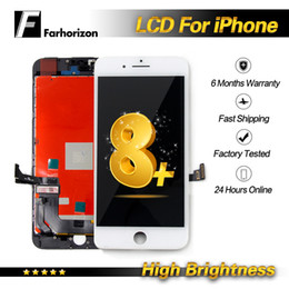 Iphone Screen Testing Australia - High Brightness - For iPhone 8 Plus LCD Screen Panels LCD Display Tested Good Working Touch Screen Digitizer Assembly Replacement