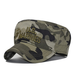 b5206daa8953c 2018 United States US Marines Corps Cap Hat USMC Camouflage flat top hat  Men cotton hat USA Navy Embroidered hats cap  17578