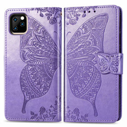 $enCountryForm.capitalKeyWord NZ - Luxury Flip Leather Case For iphone 11 Pro Max 3D Butterfly Flower Wallet Cover For iphone 11 Phone Case iphone11 Coque Funda