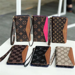$enCountryForm.capitalKeyWord Australia - Classic Monogram Case Soft Leather Flip Wallet Bumper Phone Case For Iphone XS Max XR X 8 7 6 Plus Shockproof Cellphone Cover With Card Slot