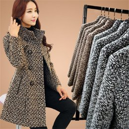 Discount middle age women clothing - Middle-aged ladies woolen coat female long section autumn and winter new large size woolen coat fashion women's clo