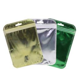 200pcs 7x11cm Assorted Color Glossy Clear Front Color Inside Silver Back Foil Flat Zip Lock Bags With Euro Slot