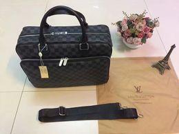 Designer men briefcase online shopping - Retail Classic Men Purse Leather Briefcases Designer Handbag Shoulder Bag classic branded bags EXPLORER OL briefcase with letter