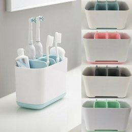 Wholesale New Toiletries Portable Color Toothbrush Multifunctional Toothpaste Holders Bathroom Storage Box