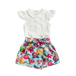 $enCountryForm.capitalKeyWord UK - Toddler Kids Baby Girl Floral Outfits Clothes T-shirt Tops+Pants Shorts 2PCS Set