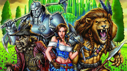 wizard figure Australia - Grimm Fairy Tales Art The Wizard Of Oz,Oil Painting Reproduction High Quality Giclee Print on Canvas Modern Home Art Decor B4294