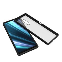 Glasses Case Material Australia - Back Tempered glass Protective Case For Sony Xperia 1 XZ4 Metal Frame Light weight Metal+ tpu case metallic feel glass material