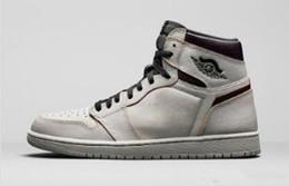 Great Shoe Australia - 2019 NEW Style Defiant SB x 1 High OG Light Bone 1S Men Women Basketball Shoes Authentic Sports Sneakers Great Quality