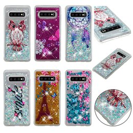 S6 Bling Cases Australia - Soft Fashion Quicksand Liquid Glitter Silicone Bling Phone Case for Samsung S10 S10e S9 S8 S5 S6 S7 Samsung S10 Plus Clear Colors 07