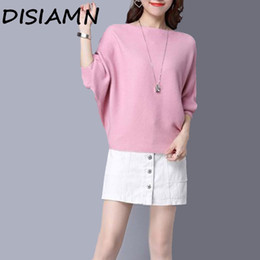 new women blouse korean NZ - DISIMAN fall 2019 new fashion sweater women pink pullover korean style women solid color kawaii womens tops and blouses