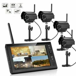 "cctv dvr hdd Canada - 2020 NEW HOT 7"" Wireless Monitor 2.4GHz 4CH CCTV DVR Kit WIFI Cameras Audio Security System"