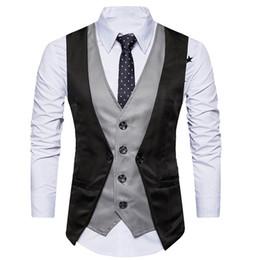 $enCountryForm.capitalKeyWord Australia - 2019 New Arrival Dress Vests For Men Slim Fit Mens Suit Vest Male Waistcoat Gilet Homme Casual Sleeveless Formal Business Jacket