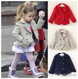 $enCountryForm.capitalKeyWord Australia - High Quality 2-7Y Fashion Jackets For Girls Cotton Woolen Kids Jacket Autumn Spring Princess Girls Coats 2016 Girls Outerwear