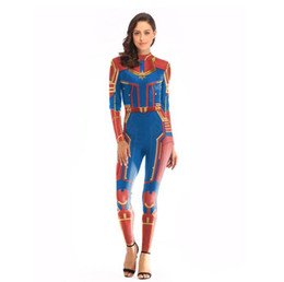 597afe623f4 2019 Avengers 4 Captain Marvel Jumpsuits Tights Anime Clothes Women Sexy  Bodysuit Super Hero Cosplay Costume Dropshipping