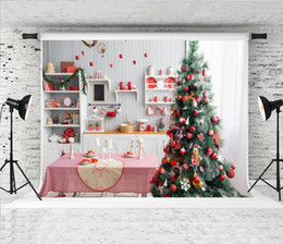$enCountryForm.capitalKeyWord Australia - Dream 7x5ft Indoor Red Christmas Decor Photography Backdrop Light Grey Kitchen Photo Background for Xmas Shoot Booth Backdrops Studio Prop