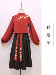 Wholesale ancient chinese clothes for sale - Group buy Red Hanfu Princess Chinese Costume Women Fairy Costume Clothing Hanfu Fairy Dress Chinese Ancient Clothes Stage Outfits SL1407