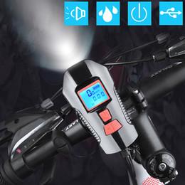 Discount computers mtb - NEWBOLER Bike Light Bicycle Computer 3 in 1 USB Rechargeable Battery 300 Lumen Headlight MTB Road Bike Bell Cycling Fron