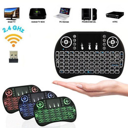 Wholesale Mini Rii i8 Wireless 2.4G English Air Mouse Keyboard Remote Control Touchpad for Smart Android TV Box Notebook Tablet Pc