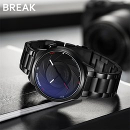 $enCountryForm.capitalKeyWord NZ - Break Photographer Series Stainless Strap Unique Creative Camera Style Men Women Casual Quartz Sport Analog Dress Wrist Watch Y19061905