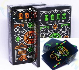 Board Cards NZ - Luminous Fluorescent Poker Cards cool Black Glow Dark Bar Party KTV Luminous Playing Cards Collection Special Poker board game