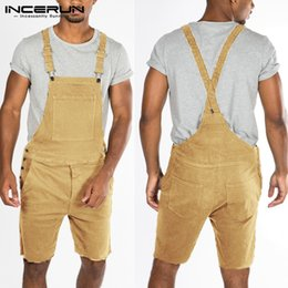 $enCountryForm.capitalKeyWord Australia - INCERUN Summer Men Pants Romper Cotton Pockets Solid Straps Playsuits Casual Trousers Men Streetwear Fashion Jumpsuit Pants 2019