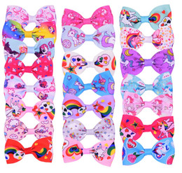 $enCountryForm.capitalKeyWord Australia - New Pet Cat Dog cartoon unicorn bow tie accessories hairpin Hair Bows with Rubber Bands Grooming Accessories Cute Pet Headwear Costume