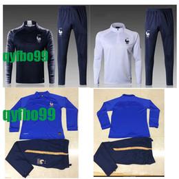 Maillot de Pé survetement Homme 18-20 camisas de futebol jogging Equipe de france 2 STAR de manga comprida treino de futebol, treino de fato de treino venda por atacado