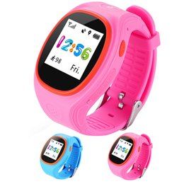 Digital Wrist Gps Australia - S866A Kids Watch GPS Tracking SIM Card Smart Watch with SOS LBS Mini Children Security Bracelet Digital for iOS & Android