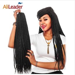 blonde kanekalon braiding hair Australia - 12-24 Inches Crotchet Box Braids Hair Extensions #1B 1 2 Blonde Brown Burgundy Crochet Braids Kanekalon Synthetic Hair