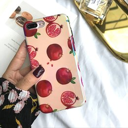 Japanese models female online shopping - Blu ray soft shell is suitable for iphone iphone8plus s silicone soft shell female model Japanese and Korean cherry