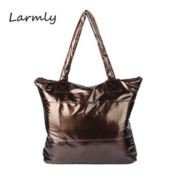 Purple Tote Bags Wholesale Australia - Women Bag Fashion Women Handbag Single Shoulder Tote Girl Space Bale Cotton Handbags Feather Down Shoulder Bag bolsa feminina @P