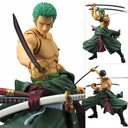 one piece zoro figure Australia - 20cm Two Years Roronoa Zoro Sauron Three-knife Flow Swords Model for Collection Later Pvc Figure Toy One Piece PVC Doll Mode