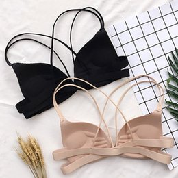 natural color closure NZ - Women Back Beautify Ladies Front Closure Wire Free Fashion Bra Sexy Padded Lingerie Bralette Gather Push Up
