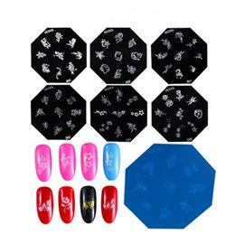$enCountryForm.capitalKeyWord Australia - 6 styles Cartoon DIY Nail Art Stamping Plates Manicure Cute Flower Templates Stamp Plate Nail Art Tools