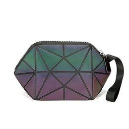 $enCountryForm.capitalKeyWord Australia - Fashion Cosmetic Bag Women Geometric Zipper Luminous Makeup Bag Ladies Organizer Folding Travel Make Up Wash Kit Toiletry