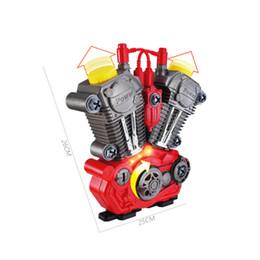 Diy Boys Toys UK - Children Simulation Toys Motorcycle Engine Overhaul Play Set With Light Sound DIY Assembly Mechanic Kit Kids Educational Toy