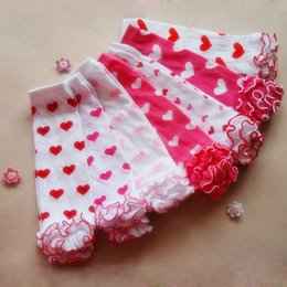 Infant tIghts sock online shopping - Baby Leg Warmers Kids Legging Tights Cotton Heart Socks Valentine s Day Infant Toddler Ruffle Warmers Lovely Kniekousen